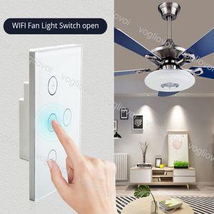Los atenuadores Wi-Fi inteligente de techo Interruptor del ventilador de pared de luz Vida aplicación de control remoto compatible Varios DHL Interruptor de control de velocidad