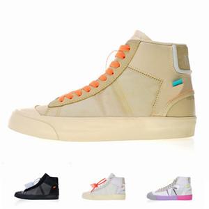 Nike 2019 Nuevo Blazer Zapatos Zapatillas de deporte medias Zapatillas de deporte de baloncesto Ror Hombres Mujeres Negro Blanco Arroz Zapatos casuales