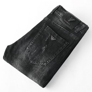 9022 Giorgio AJ- Autumnwinter Açık Pantolon Kalın Stretch kot pamuk pantolon pantolon düz iş olağan biçimde yıkanmış Erkek pantolonu pant