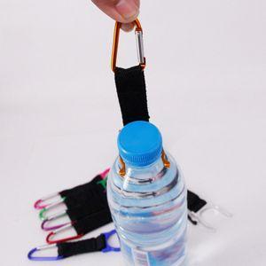 زجاجة ماء معدني محمولة أباريق الإبزيم D نوع هوك حامل كليب الرياضة في الهواء الطلق المشي لمسافات طويلة بقاء أدوات السفر التخييم حلقة تسلق حزمة مجانية