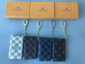 2020 Men Key Pouch zip Wallet Coin Real Leather Wallets Damier Ebene Women designers Brand mini girls purse Without Box
