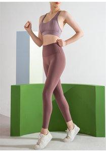 Lady Yoga Pant Wholesale Luoke Fake Two Pieces High-Waist Pants Women Microfiber Yoga Nsck-Yzj-115-02