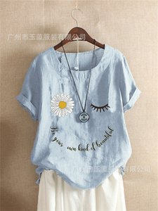 Floral Letter Summer Womens Tshirts Round Neck Loose Summer Womens Designer T Shirts Short Sleeve Solid Color Plus Size Tees