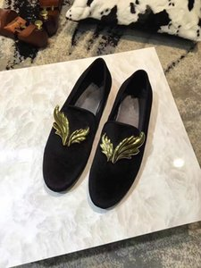 2019 new Fashion Shoes Flat Genuine Leather Oxford Dress Shoes With Sequined Mens Womens Walking Flats Wedding Party Loafers size 35-45