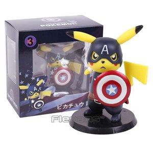 Action Toy Figures Deadpool Captain America Mini Pvc Action Figure Collectible Model Toy Small Size 10cm