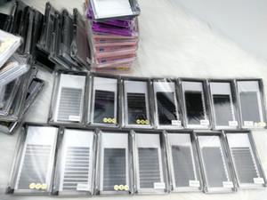 Pestañas de extensión de Premade Fan 3D Individual Lashes B C D J CC Curl Todos los tamaños 8-15 mm Longitud mezclada en una bandeja Natural