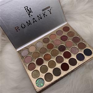 Purée Eye Shadow Palette Romanky Marque 35 couleurs de fard à paupières humides Maquillage yeux Long Lasting cosmétiques Ins Hot
