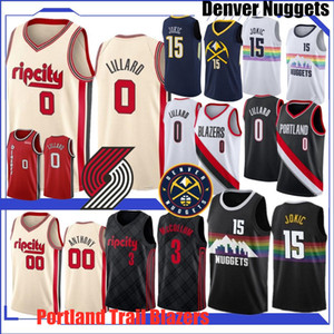 Maglia NCAA Damian Lillard 0 Carmelo Anthony 00 15 Jokic Pallacanestro maglie C.J. 3 McCollum 27 Murray nuova Top Quality