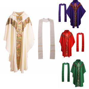 Priest Costume Católica Formal Igreja Homens Clero Vestments Cassock Casula Cope Robe