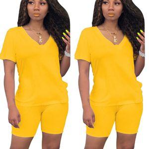SONDR Kadınlar Yaz Tracksuits Kısa Kollu Üst Şort Takım Elbise 2 Adet Set Spor Gece Kulübü Parti Esneklik İnce Kıyafetleri ayarlar