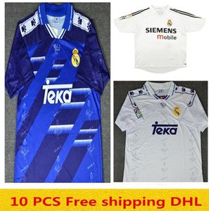novo 04 05 Madrid real retro 94 95 96 Retro Real Madrid Soccer Jersey # 7 Raul # 9 Ronaldo # 23 Beckham Retro 2006 2007 Real Madrid