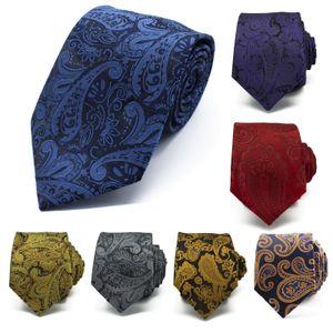 Hot Sale Multicolor Brown Gold Yellow Navy Blue Floral Mens Ties Neckties Pocket Square 100% Silk Woven Tie