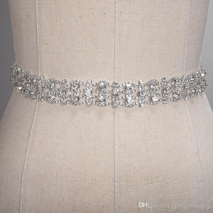 Cinture a sdraio di cristallo fatto a mano Golden Silver Silver Dress Dress Dress Belt Formal Wedding Accessori da sposa Bridal Ribbon Belt Cintura CPA1393