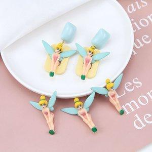 Nuovi 4pcs / Lot di bellezza Fiaba Principessa della ragazza resina di risultati dell'orecchino Gioielli fai da te ornamento pendente accessori