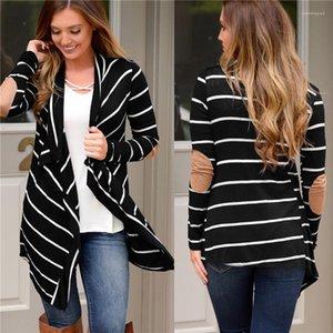A strisce Panelled Moda allentati irregolari Womens Cardigan Outerwears lunghi casuali femmine manica Abbigliamento Donna Giacche Designer