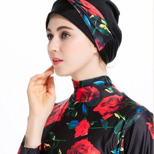 Islamic Women Swimwear Burkini Muslim Hooded Hijab Swimsuit Modest Swim Surf Wear Floral Sport Full Suit for Swimming 3 Piece