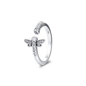 2020 Nouveau printemps 925 miroitante Dragonfly ouverts Anneaux pour les femmes en argent bague de mariage 925 bijoux en gros 198806C01