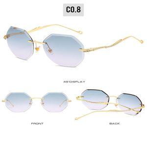 Frameless sunglasse Oulylan Rimless Sunglasses Women Brand Designer Sun Glasses Gradient Shades Cutting Lens Ladies Frameless Metal eXmSc