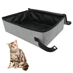 Toilet Pet Accessories Cleaning Portable Home With Cover Traveling Oxford Cloth Easy Clean Waterproof Folding Cat Litter Box
