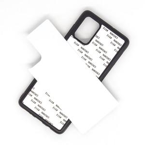 Rubber TPU DIY sublimation case with aluminium metal sheet Glue FOR Samsung Galaxy A01 A21 A51 A71 50pcs lot