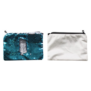 Wholesales 16*23cm Sequins Transfer New Bags Hot Consumables Makeup Bag Printing Sublimation Blank Styles Cosmetic Ndvcr