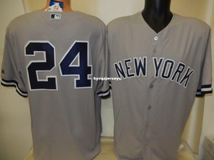 Günstige Baseball NY GARY SANCHEZ # 24 genähte COOL BASE Shirt Jersey GRAY neue Mens genäht Trikots groß und hoch Größe XS-6XL Zum Verkauf
