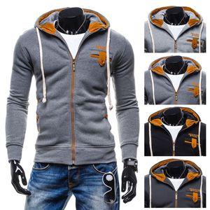 Zogaa 2019 New Men Sports Casual Wear Zipper Fashion Hoodies Cotton Autumn Winter Jacket Fall Sweatshirts Solid Coat