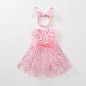 1 anno di compleanno Vecchi Outfits Neonato vestito dal tutu di Tulle estate della neonata Rosso Rosa principessa infantile Abiti Baby Vestido J190426