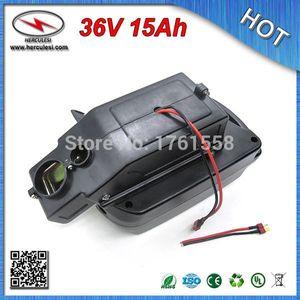 Бесплатная доставка (1 шт.) bateria литий 36 в 15Ah для 200-500 Вт двигатель bicicleta eletrica пластиковая оболочка + BMS бесплатно CC / CV 42 В 2A зарядное устройство