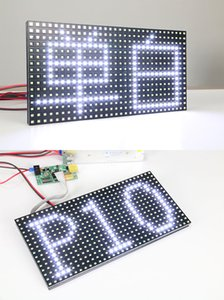 free shipping 20pcs p10 semi-outdoor LED display white color SMD p10 display module+2pcs power supply+wifi controller card