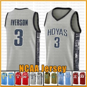 Allen Iverson 3 23 13 LeBron Universidad James Harden NCAA Baloncesto Jersey Georgetown Arizona 23 James Leonard 2 3 Wade 11 Irving 30 Curry