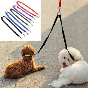 Nuevo Nylon Strong Double Dog Lead Leash Pareja Collar para mascotas Correa para arnés de collar