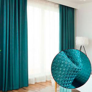 Linen térmicas janela cortinas para Sala de estar Preto cinzentas grossas Cortinas para cozinha Drape janela tratamento Decoração