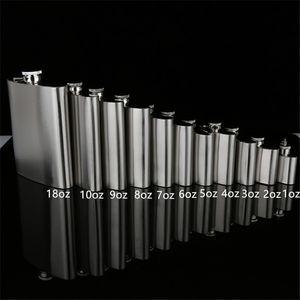 Stainless Steel Hip Flask Bottiglie esterna portatile bottiglione Whisky Stoup Wine Pot Alcohol 1 oz 2 oz 3 once 4 once 18 once bottiglione A03