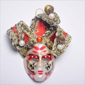 Dia das bruxas Grande Tamanho 10 CM Veneza Rainha Máscara para Imãs de Geladeira Kid Presentes Etiqueta Magnética Imã de geladeira