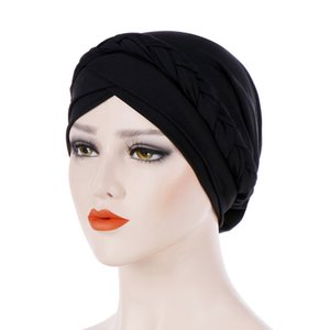 Women India Muslim Beanie Hat Solid One Tail Chemo Scarf Turban Hat Warm Wrap Cap Fashion Hats For Women 2019 casquette