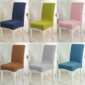 Spandex Fabric copertura della sedia 11 Colori breve tratto pranzo Foderine elastico Fodera banchetti Iniziale Hotel decorazione del partito Wedding Ceremony
