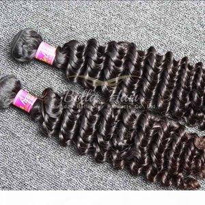 "8A 10""-28"" 100% Brazilian virgin human hair Weaves 2pcs lot Deep wave hair extensions Double Weft DHL Free shipping Bellahair"
