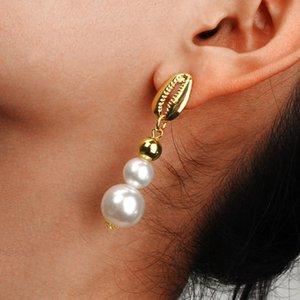 New fashion Alloy shell earrings jewelry ladies elegant pearl long earrings earrings women Women jewelry