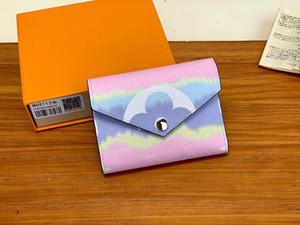 Turuncu Hediye Kutusu ile Escale Victorine Cüzdan Shibori Batik Zarf Stil Kadın Yaz 2020 Yeni Tasarımcı Cüzdan