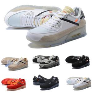 Nike Air Max 90 corrientes 90 de los 90 capacitadores clásico diseñador Deportes Virgilio Chaussures Copa del Mundo Triple Blanco Negro de aire rojos de las zapatillas de deporte