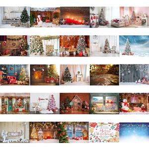 Фон 0,9 * 1,5м Фотография фоны Рождественские фон украшения ткани Снега Санта Клаус Home Decor Photo Studio Fabric