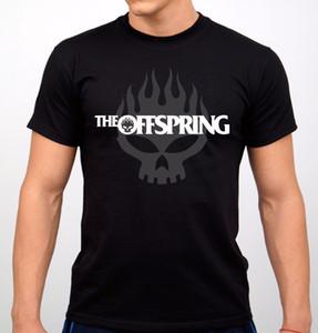 The Offspring Rock Band T-shirt Negro New T Shirt Hombre Negro de manga corta de algodón Hip Hop Imprimir Camisetas