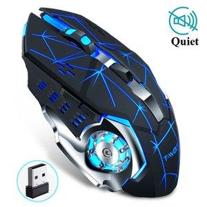 Günstige Mäuse Wireless Gaming Maus 2400 DPI Wiederaufladbare Adjustable 7 Farbe der Hintergrundbeleuchtung Breathing Gamer Maus-Spiel-Mäuse für PC Laptop