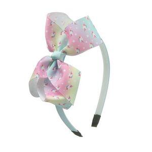 Color Shading Bow Baby Headbands For Girls Handmade Metal Coins Baby Hairband Headband Ribbon Heart Newborn Hair Accessories oPaUY