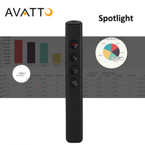 AVATTO Spotlight Wireless Digital Laser Pointer Presenter with Air Mouse, PowerPoint Presentation Remote Control for projector