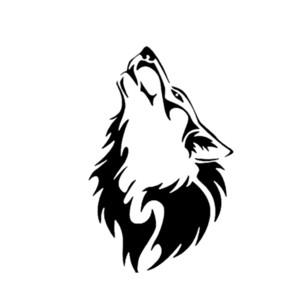 15 * 9.6cm Wolf-Heulen Auto-Autoaufkleber DRIFT VINYL DECAL schön und cool Aufkleber Autozubehör Auto-Dekor