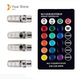 Liquidazione Youe Shone RGB T10 W5W ha condotto Car Lights SMD RGB LED T10 194 168 lampadina a distanza Larghezza interna Sorgente luminosa Car Styling