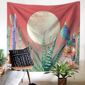 Beach towel tapestry wall cross-border custom hanging watercolor juicy cactus printing new products manufacturers wholesale