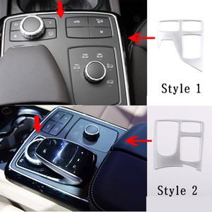 ML GLE W167 2,012에서 2,019 사이 - GLGLS X166 2013-19 자동차 액세서리 ABS 중앙 제어 멀티미디어 프레임 장식의 경우